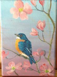 Spring Bluebird by Ronron84