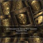 Metallic Ornamental Tile Textures (Commercial)