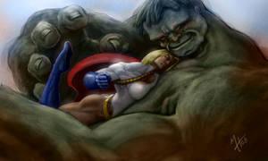 Power Girl vs The Hulk