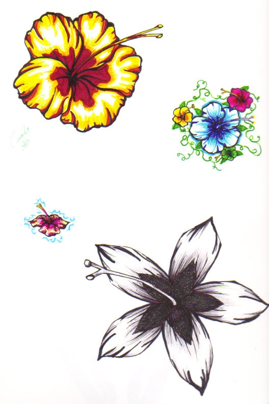 Hibiscus Tattoo's by *SnipersAngel on deviantART