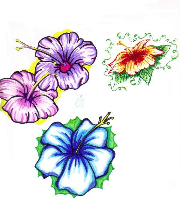 Hibiscus Flower Tattoo by SnipersAngel