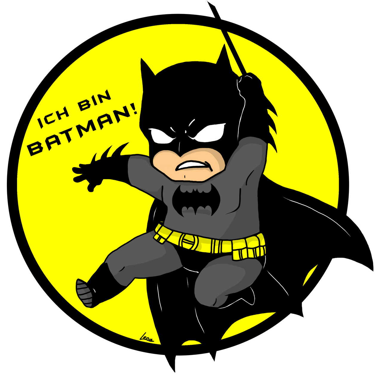 ich bin batman i 39 m batman chibistyle by lenschn on deviantart. Black Bedroom Furniture Sets. Home Design Ideas