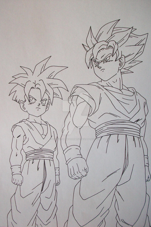 Super saiyan son goku and son gohan by sakakithemastermind - Son gohan super saiyan 4 ...