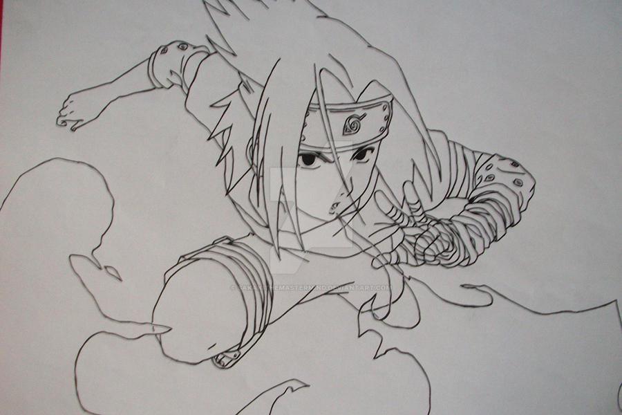 Sasuke Lineart : Katon gokakyu no jutsu sasuke uchiha by sakakithemastermind on
