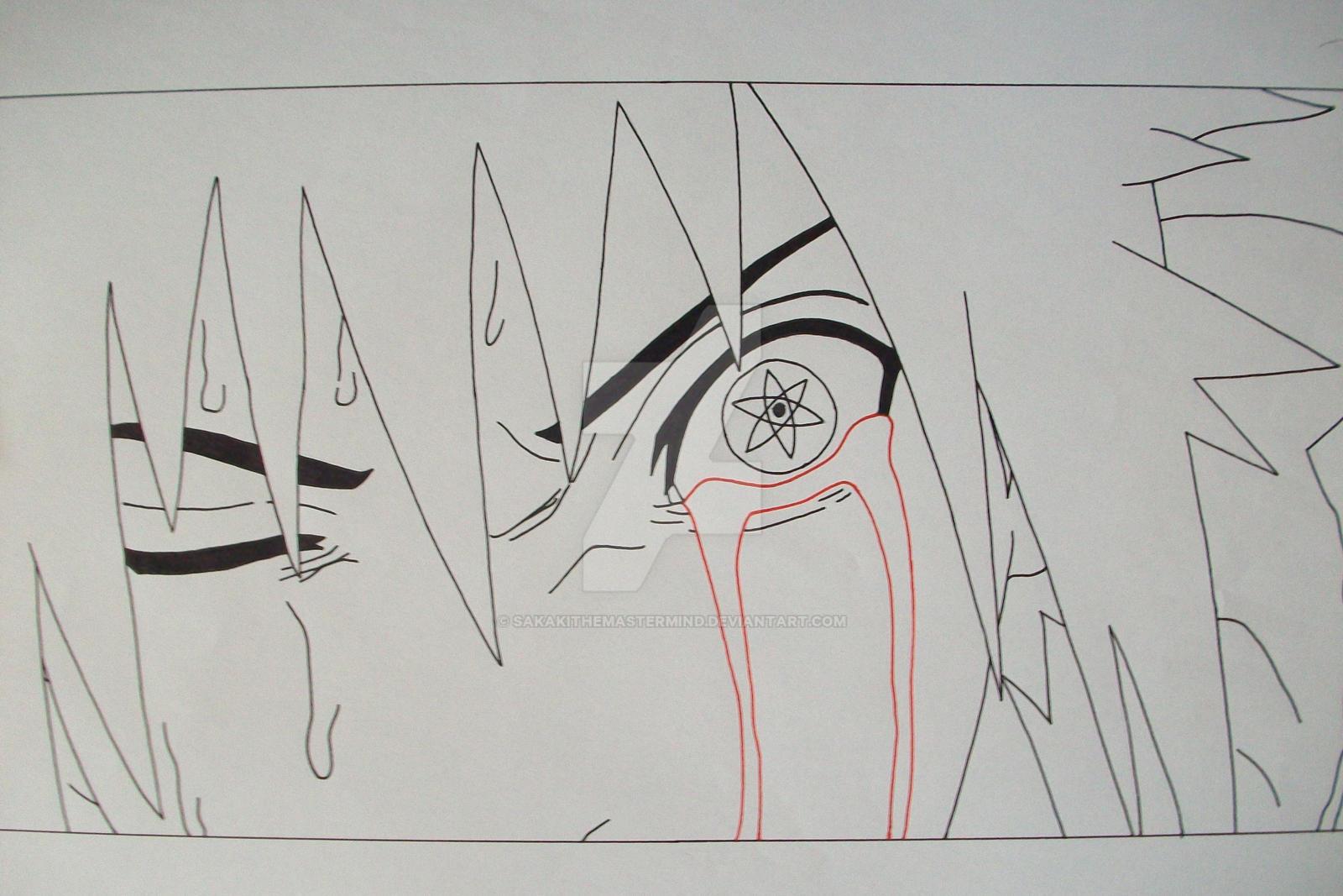 Bloody Mangekyo Sharingan Sasuke Uchiha By