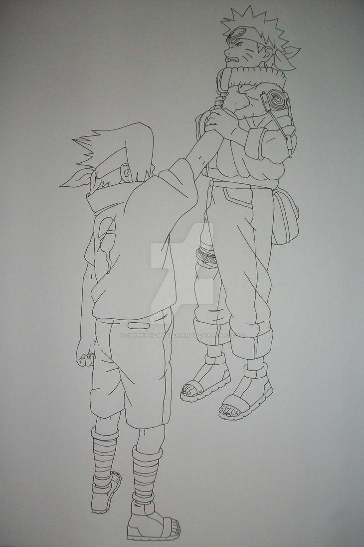 Why, Sasuke...? NAruto Uzumaki and Sasuke Uchiha by SakakiTheMastermind
