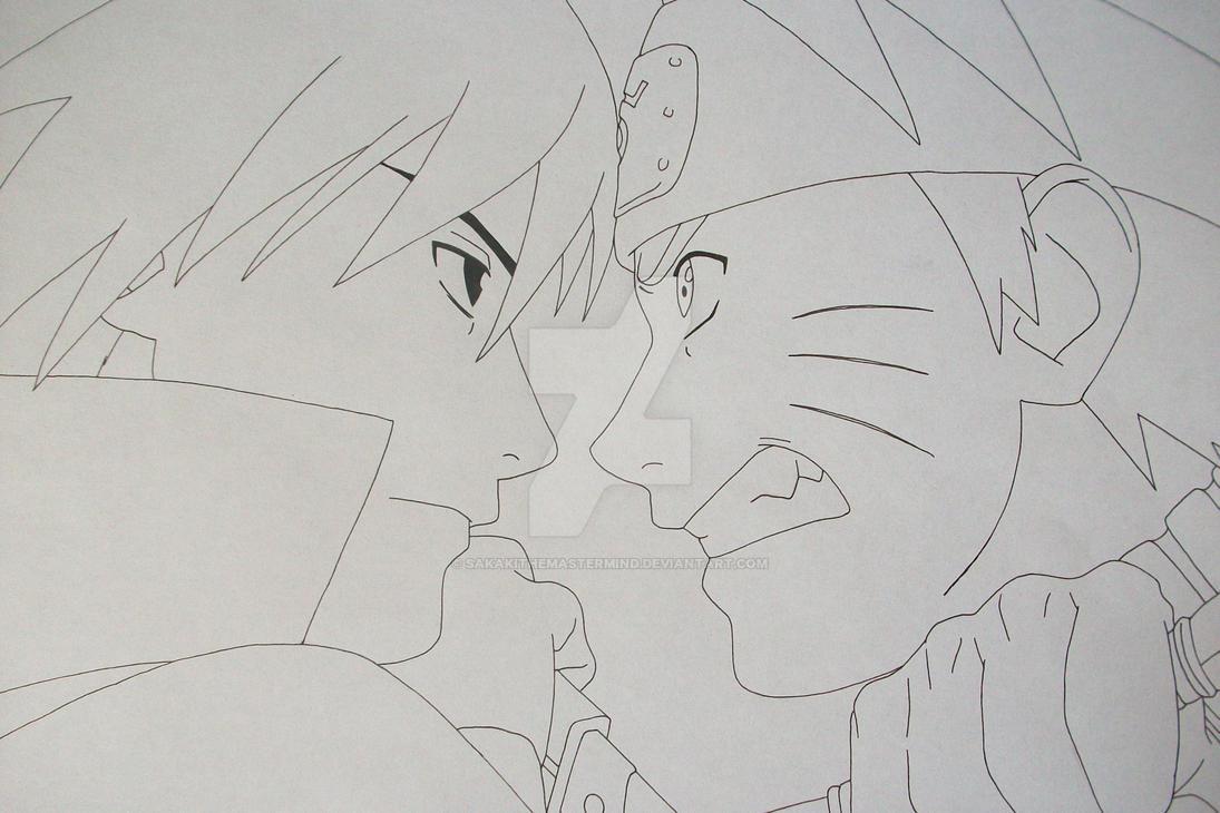 Naruto lukisan pensil anime wallpaper