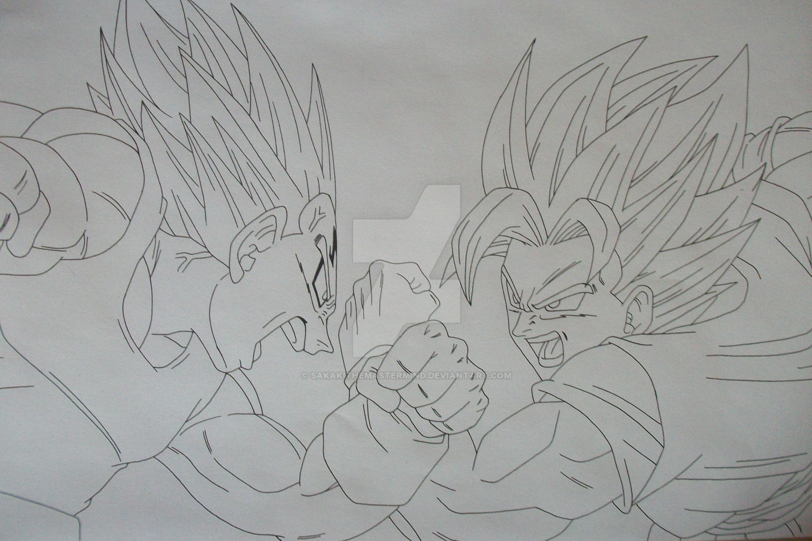 Rivals forever Super Saiyan 2 Son Goku and Vegeta by