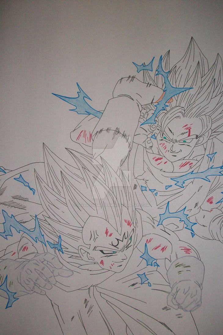 Super saiyan 2 son goku vs majin vegeta by - Goku vs vegeta super saiyan 5 ...