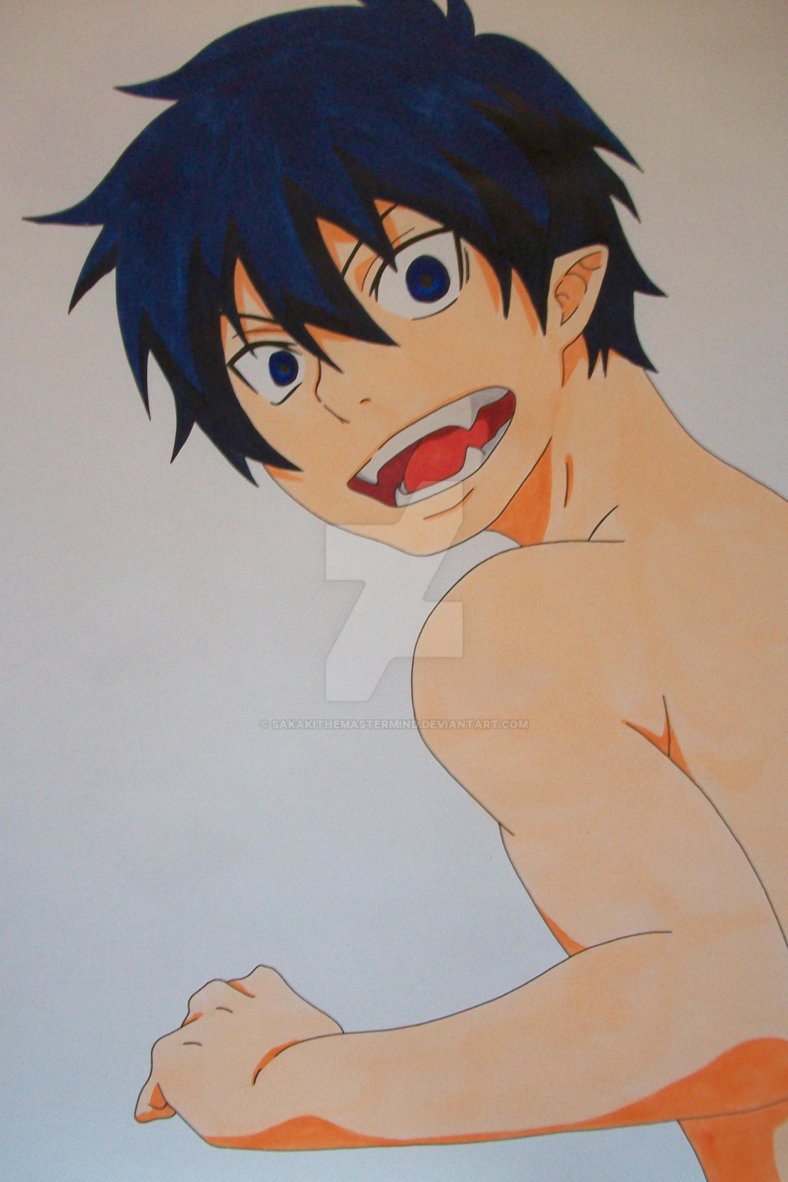 ''Come On!'' Rin Okumura colored by SakakiTheMastermind