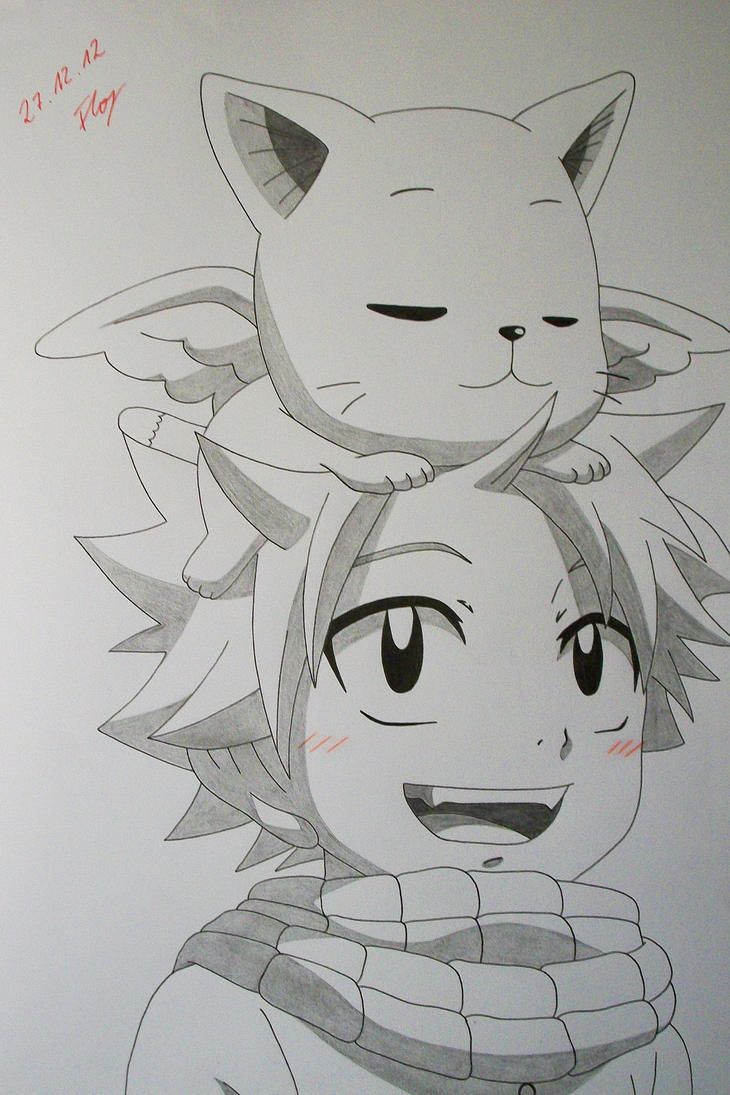 Just cute natsu and happy by sakakithemastermind on - Fairy tail happy and natsu ...