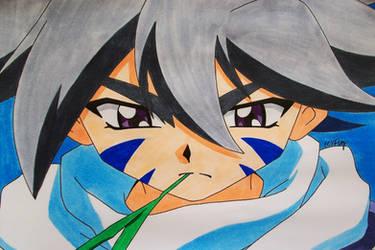 Tegami Art No.12 .:Kai Hiwatari:. by SakakiTheMastermind