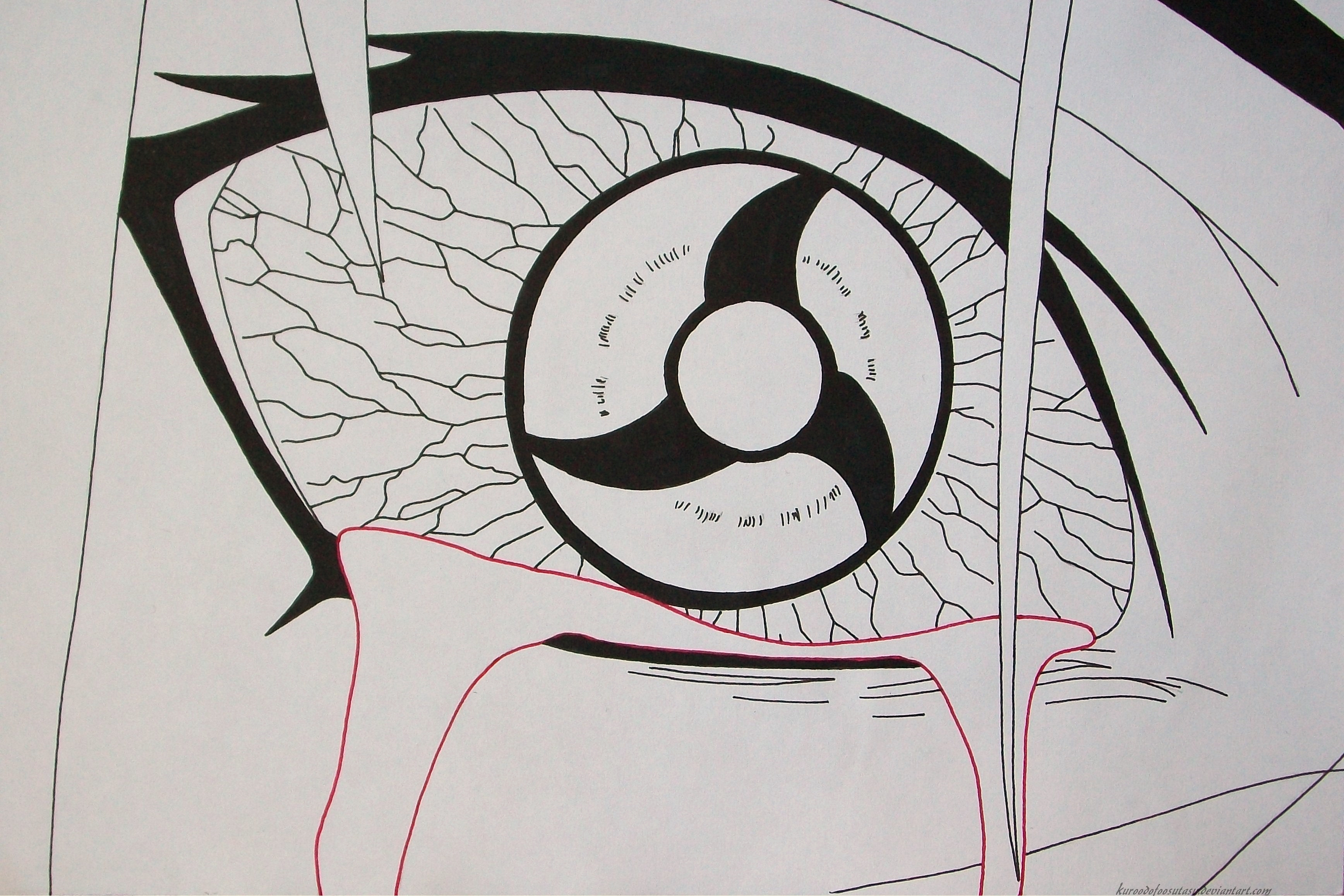 How To Draw Kakashi's Mangekyou Sharingan - Step By Step ... |Itachi Mangekyou Sharingan Drawing