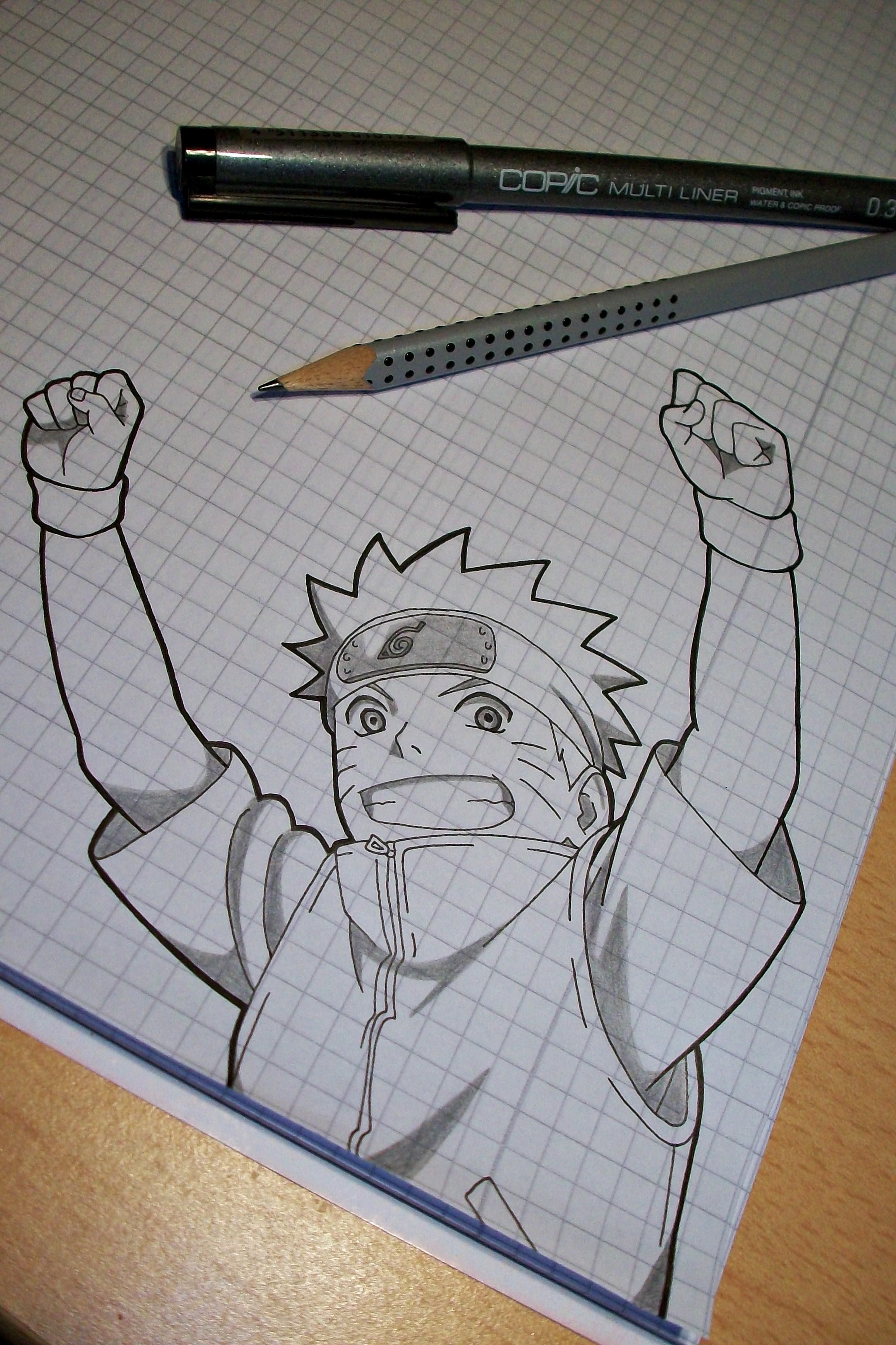 Tegami Art No.28 .:Naruto Uzumaki (Movie Style):. by SakakiTheMastermind