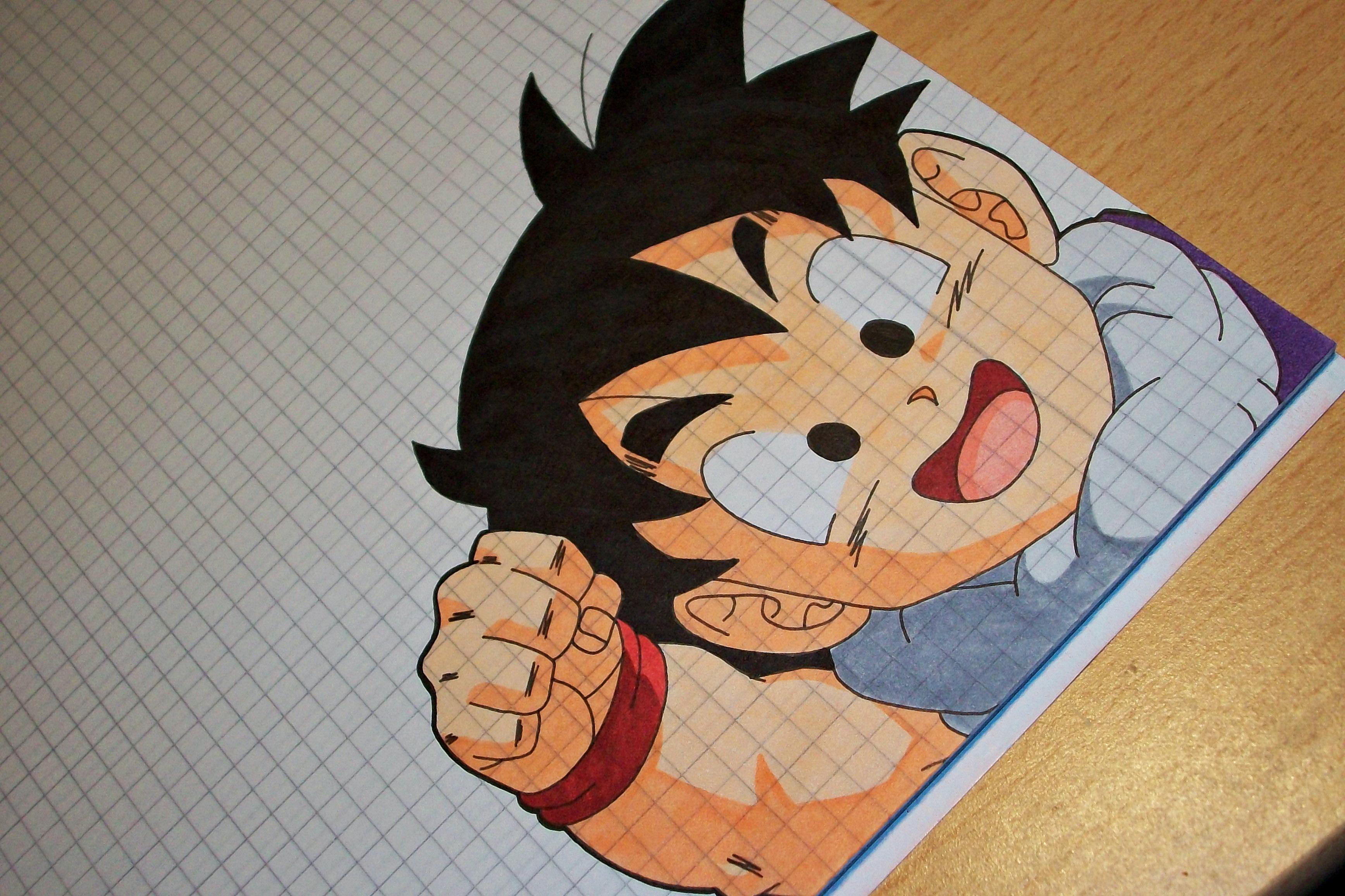 Tegami Art No.29 .:Son Gohan (Piccolo's student):. by SakakiTheMastermind