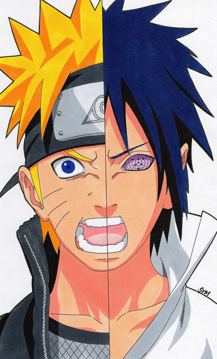 Eternal Rivals Naruto And Sasuke By Sakakithemastermind