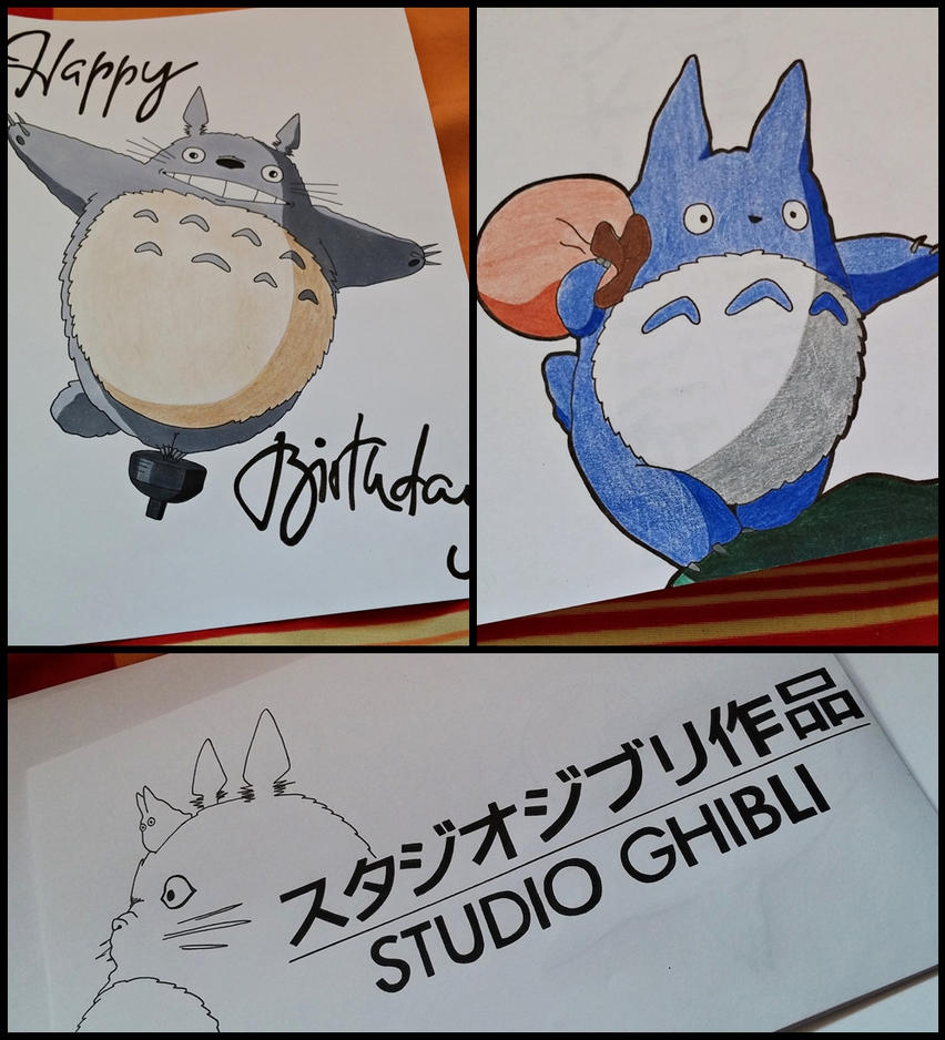My Neighbour Totoro Birthday Card by SakakiTheMastermind on – Totoro Birthday Card