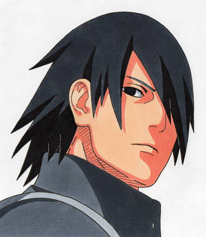 Tegami Art No.53 .:Sasuke Uchiha (adult):.