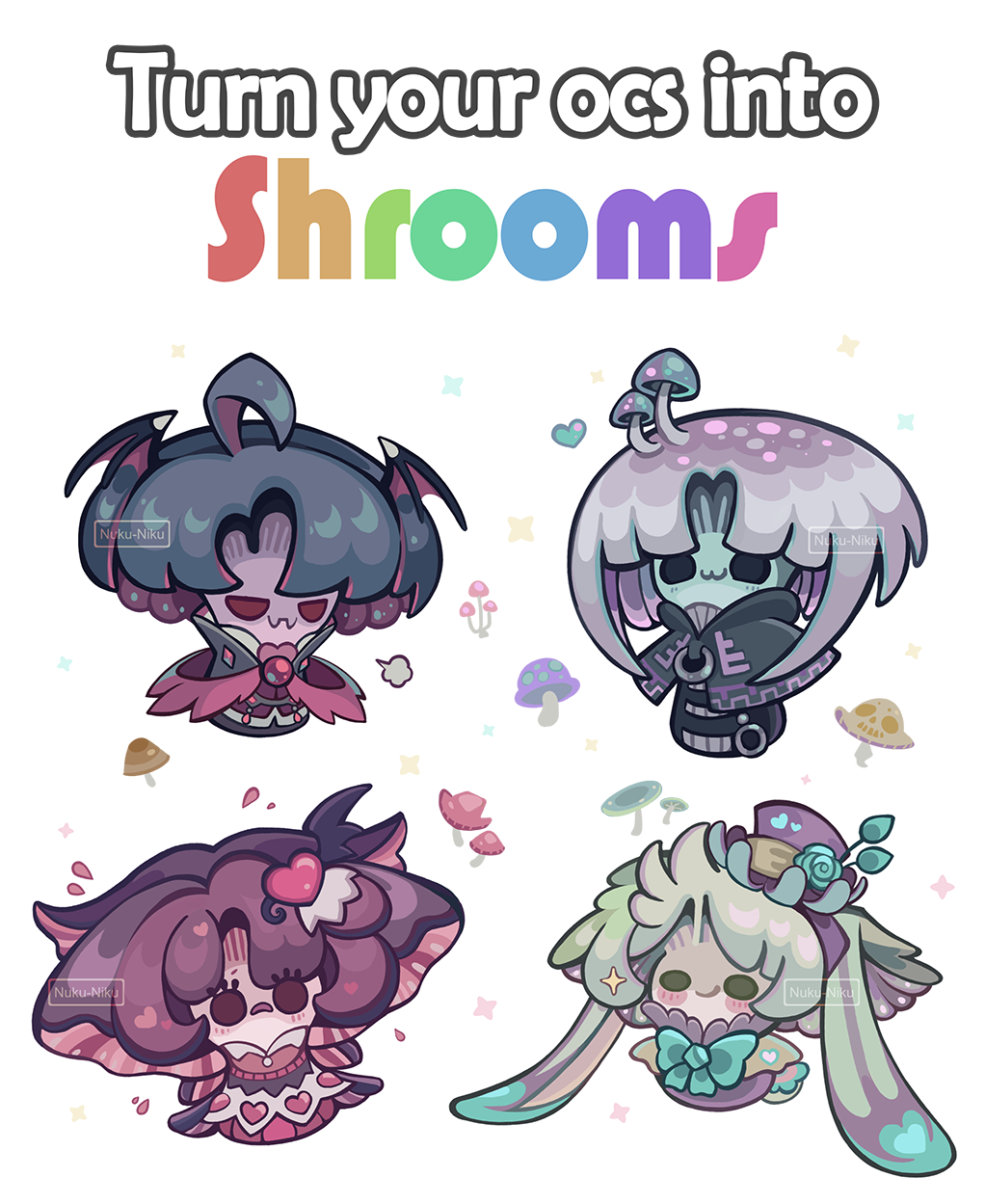 Turn your OCs into shrooms
