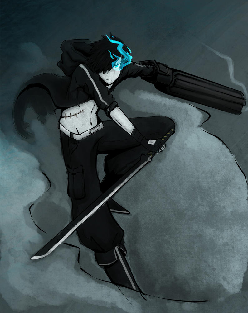 Black Rock Shooter :Male: by Kitsune-95