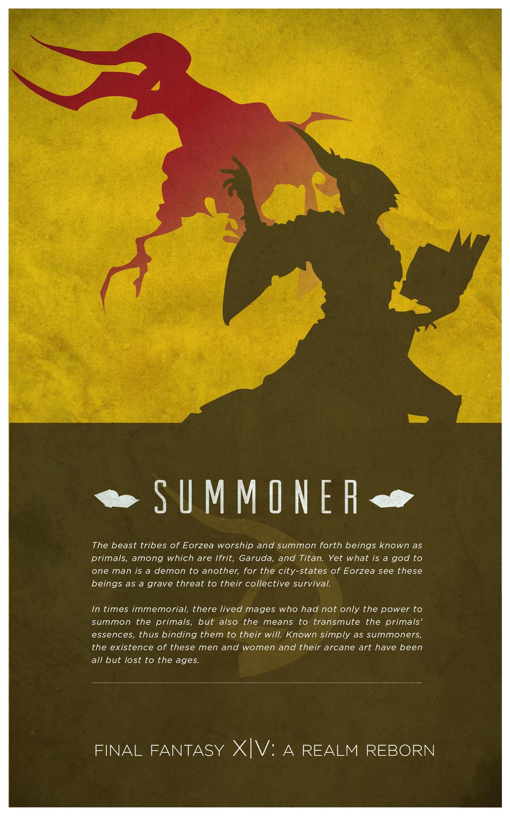 summoner final fantasy xiv by fredjully on deviantart