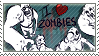 I heart zombies STAMP by GoredGuar