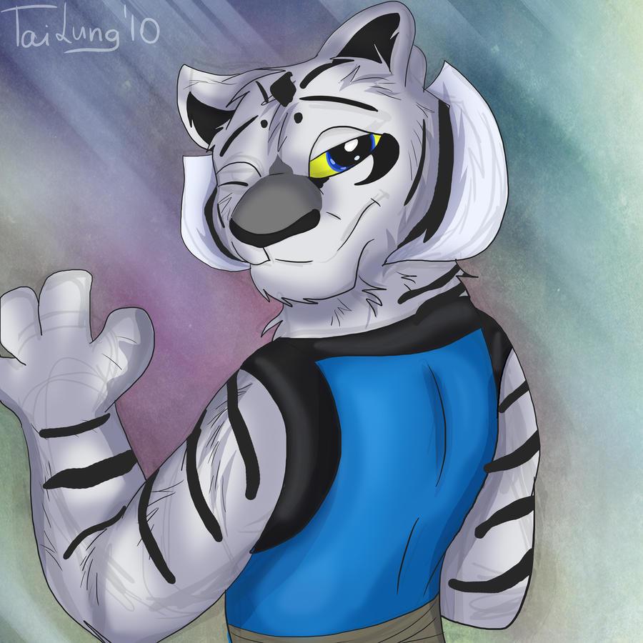 Anthro white tigress - photo#24