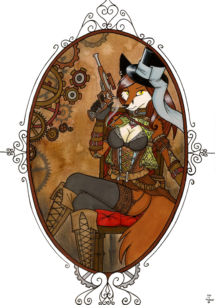 madame Steampunk by FoxInShadow