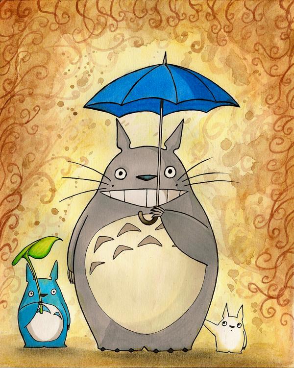 Totoro by FoxInShadow