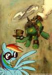 Rainbow Dash loves steampunk tortoises