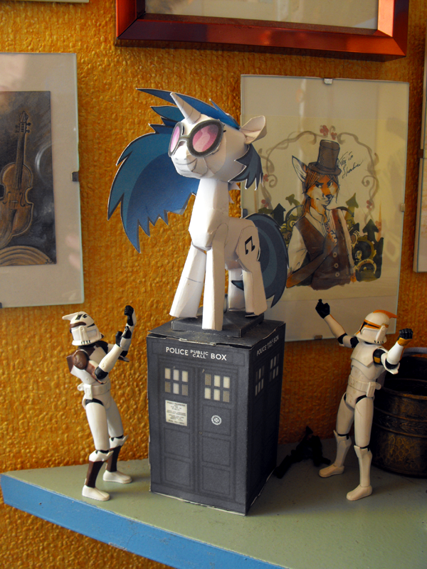 Ponies, Doctor Who, foxes and Star Wars by FoxInShadow