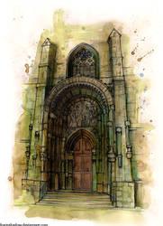Saint Vitus Cathedral portal by FoxInShadow