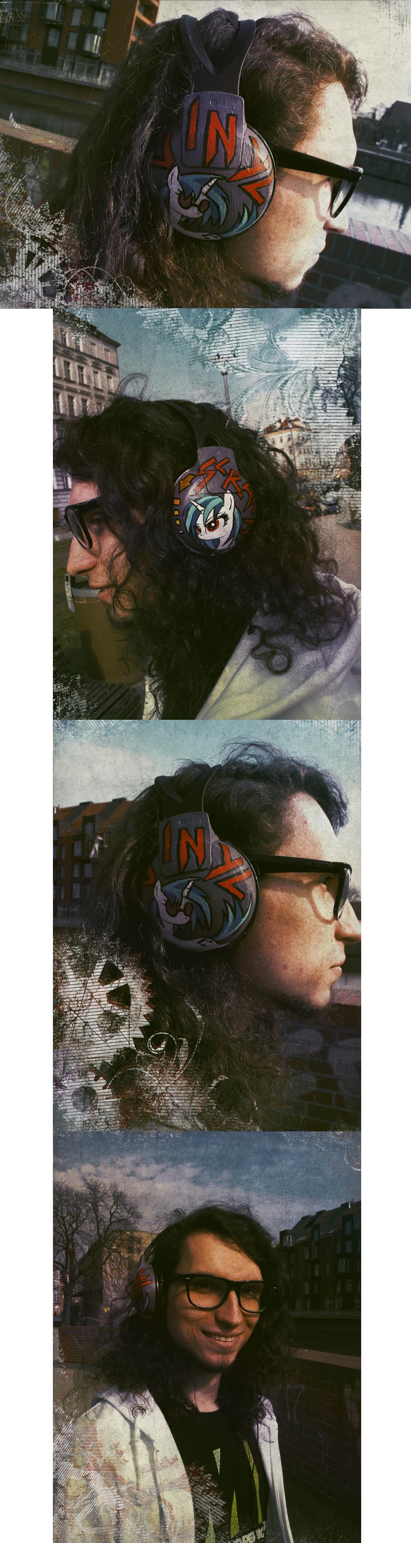 Custom Vinyl Scratch headphones by FoxInShadow