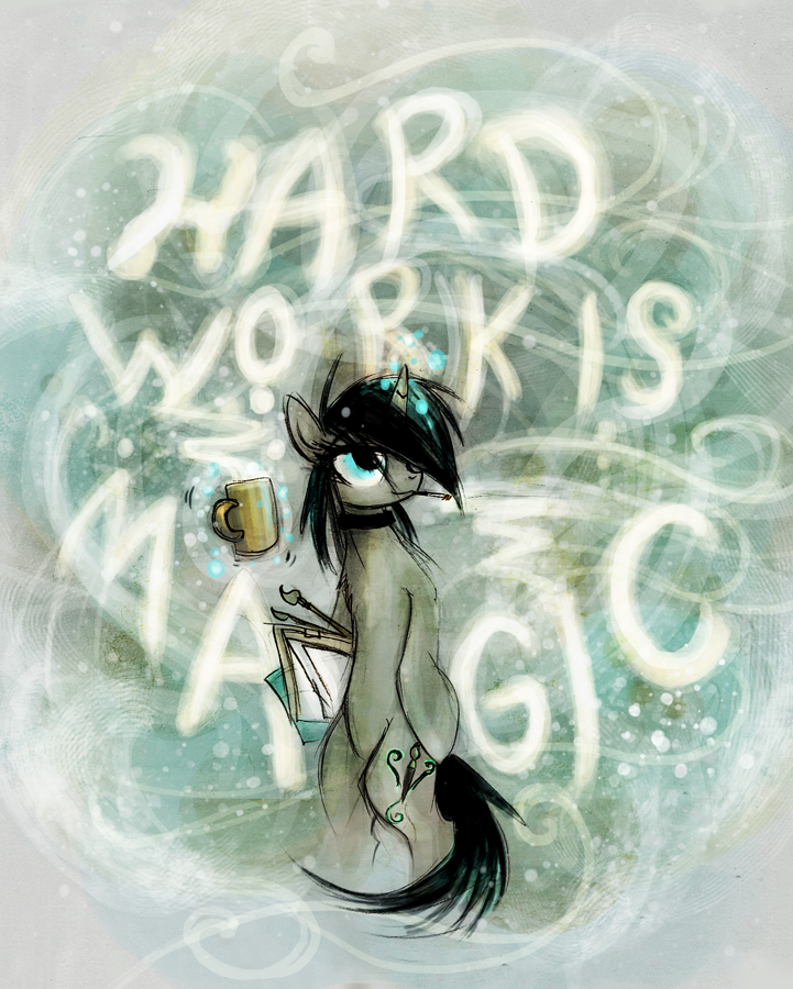 Hard Work is Magic by FoxInShadow