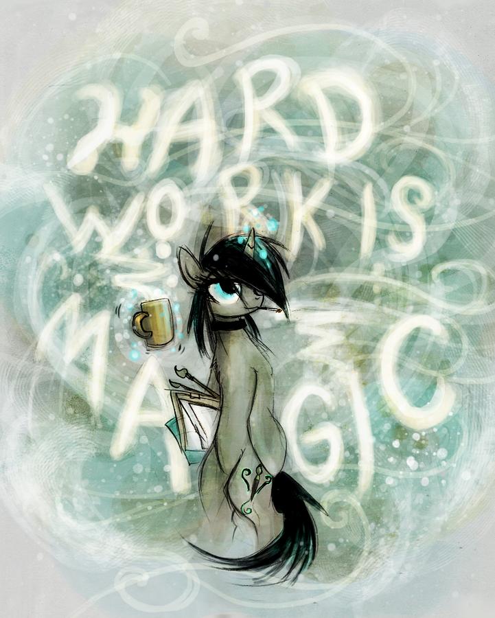 Hard Work is Magic by FoxInShadow