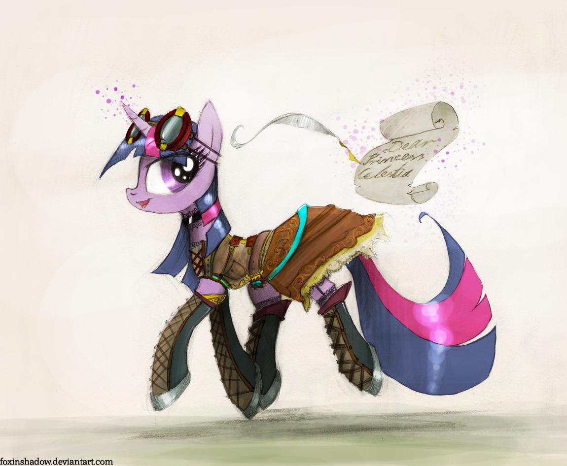 Dear Princess Celestia... by FoxInShadow