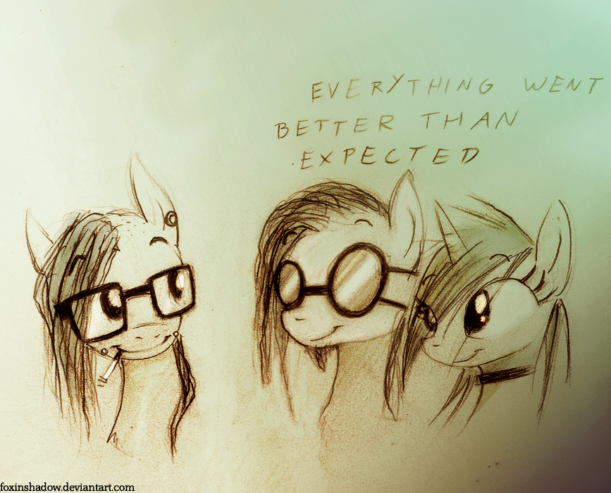 Skrillex is the best pony by FoxInShadow