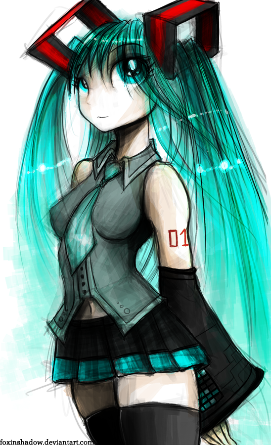 Hatsune Miku by FoxInShadow