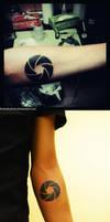 Camera lens tattoo by FoxInShadow