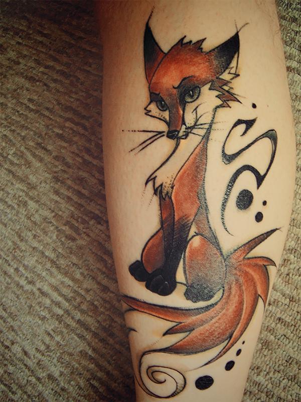 Renard tattoo by FoxInShadow