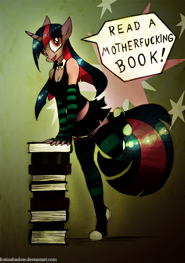 Read a Book, Read a Book by FoxInShadow