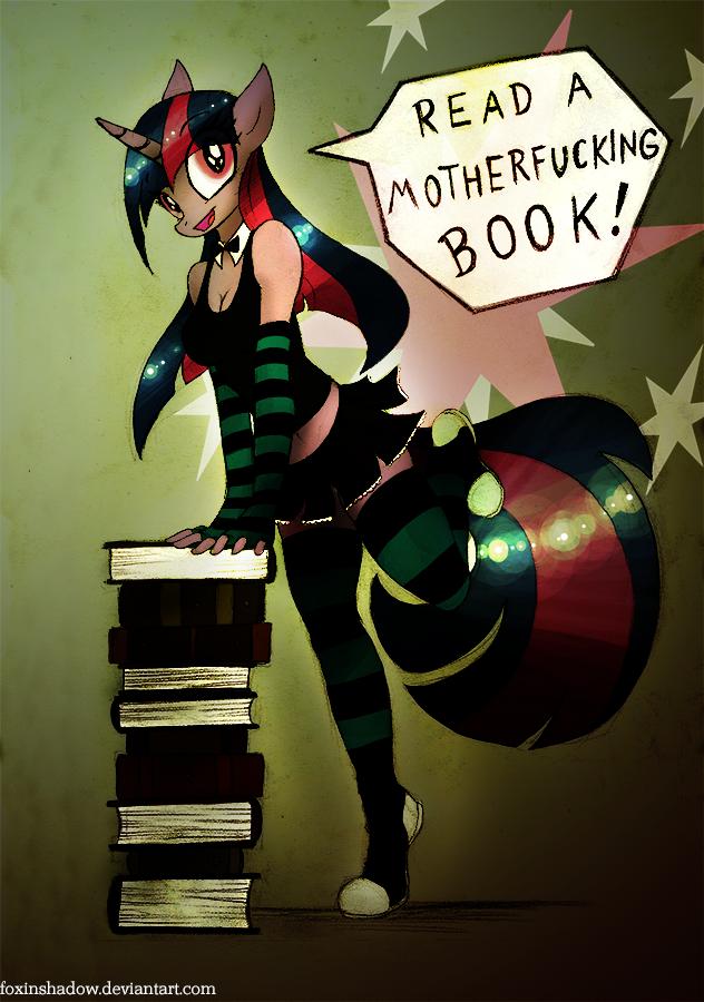 Read a Book, Read a Book by FoxInShadow