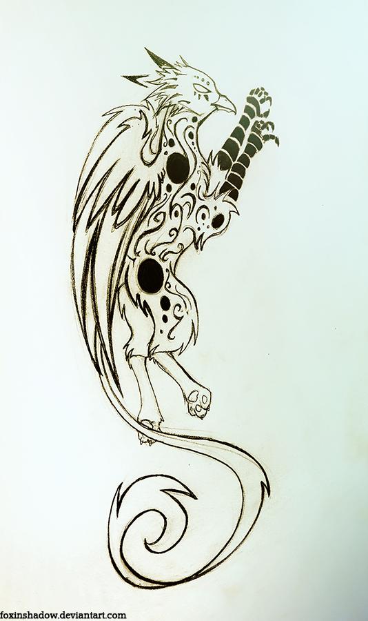 Griffon tattoo design by FoxInShadow