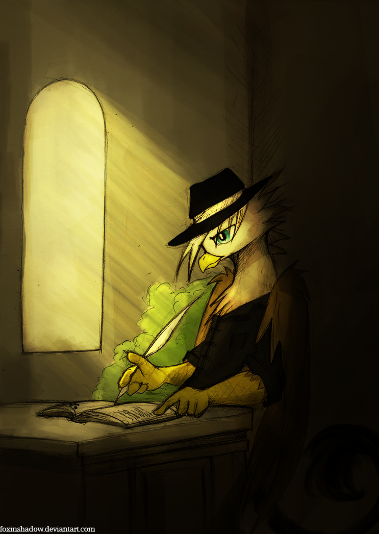 Quillery Penfeather by FoxInShadow