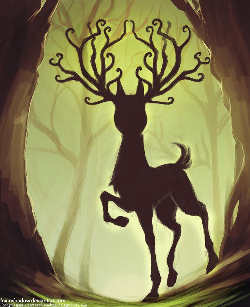 deer god by FoxInShadow