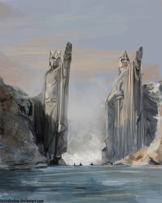 Argonath by FoxInShadow