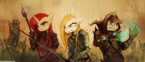 Typical rpg fantasy battle by FoxInShadow
