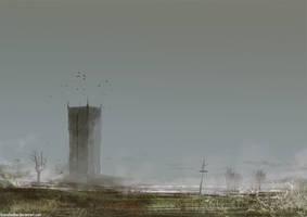 Swamp Tower by FoxInShadow