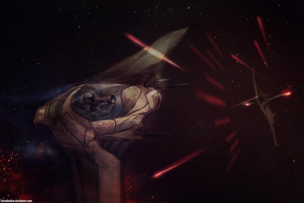 Interstellar Duel by FoxInShadow