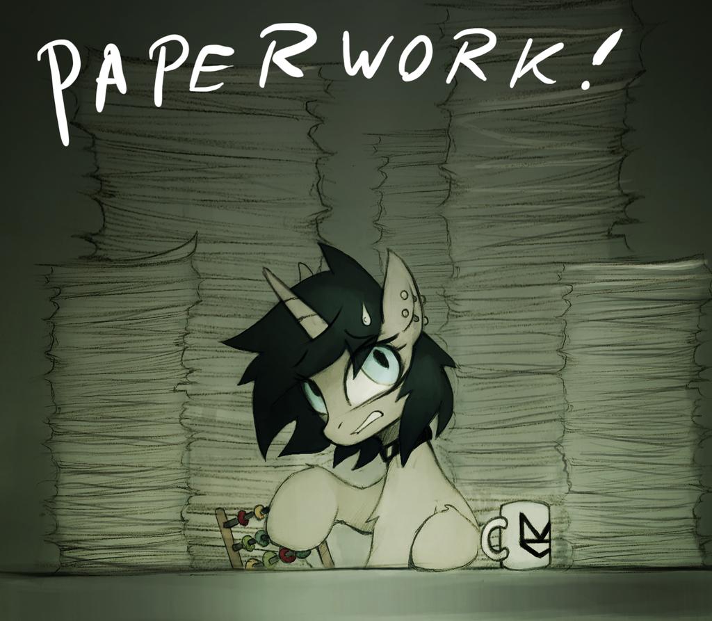 Paperwork by FoxInShadow
